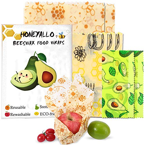 top rated HONEYALLEY Film clinging to reusable beeswax, 7 packs without plastic, food storage alternatives, eco … 2020