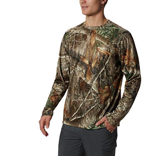 Columbia Herren Trophy Rack Langarm Strick, Herren, Trophy Rack™ Long Sleeve Knit Shirt, Realtree Edge, XX-Large