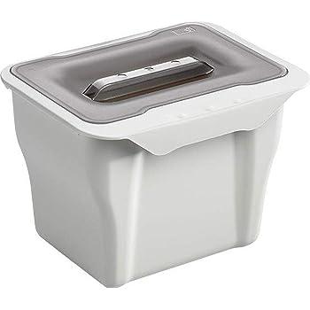 1PLUS (Bio Mülleimer Abfalleimer mit Deckel 5l, auch zum