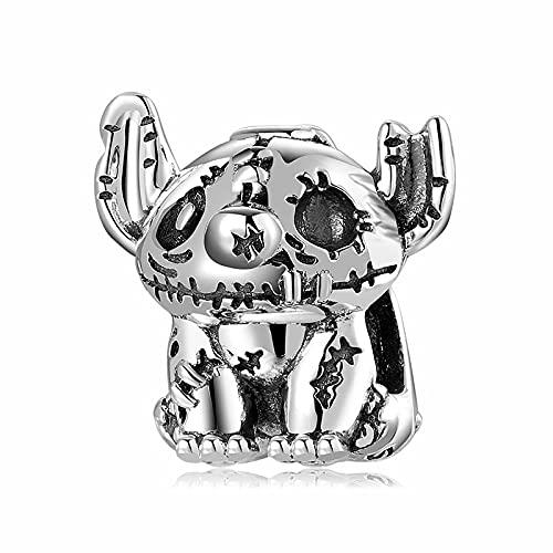 LISHOU Original Punk Gothic Violent Elf Charm 925 Sterling Silver Charms Bead Joyería Fina Diseño De Ajuste DIY Pulsera Collar D5