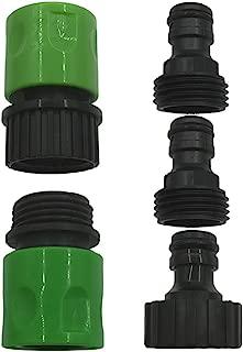 Amgate Set of 5 Garden Hose Quick Connect Kit - Complete Plastic Hose Tap Adapter Attachment