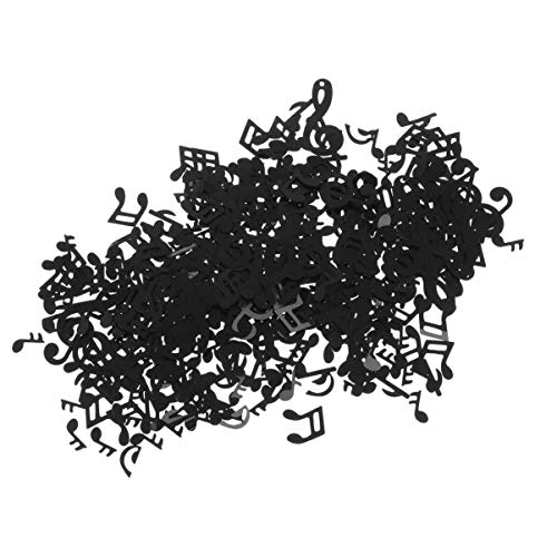 TOYANDONA Confeti musical negro de plástico para decoración de notas musicales de...