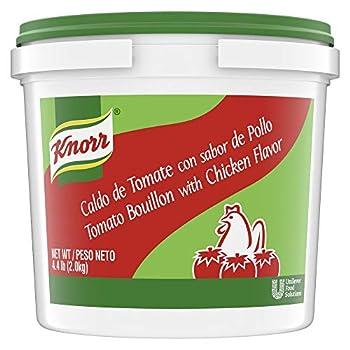Knorr Professional Caldo de Tomate Tomato with Chicken Bouillon Base Shelf Stable Convenience 0g Trans Fat 4.4 lbs