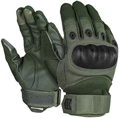 MISSION MADE Hellfox Tactical Gloves for Men Hard Knuckle for Military Police Combat Motorcycle product image