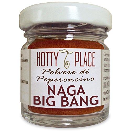 BIG BANG NAGA CHOCO Polvere Peperoncino Piccante ESTREMO Forte Deciso Indiano 10g Vaso Vetro