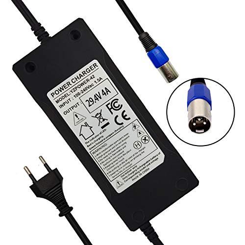 YZPOWER - Cargador de batería de litio para bicicleta eléctrica (24 V,...