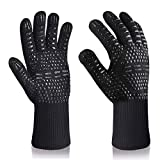 iToncs BBQ Gloves, 800 ℃/1472 with EN407 Certified Extreme Heat Resistant Grilling Gloves