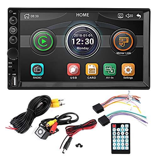 WAQU Car MP5 Player-7in 2Din HD Car Multimedia MP5-7062 Player Bluetooth USB/TF 12 LED Cámara de visión Nocturna Control Remoto