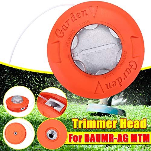 XIAOFANG Fangxia Store Universal M10 Aluminio Nylon desbrozadora Bump Carrete Cortadora de cesped 2 Líneas Cabeza de Corte de Rosca Cadena de líneas Saw Grass desbrozadora (Color : Orange)