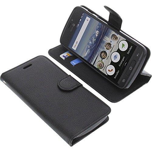 foto-kontor Tasche für Doro 8040 Book Style schwarz Schutz Hülle Buch