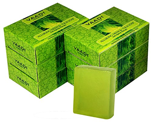 Vaadi Herbals Soap Bar Neem Tulsi With Aloe Vera Extracts Vitamin E Tea Tree Oil Natural Soap 6 X 75 Gm