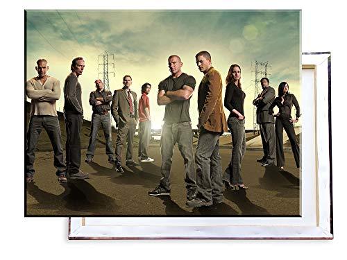 Unified Distribution Prison Break - 80x60 cm Kunstdruck auf Leinwand • erstklassige Druckqualität • Dekoration • Wandbild