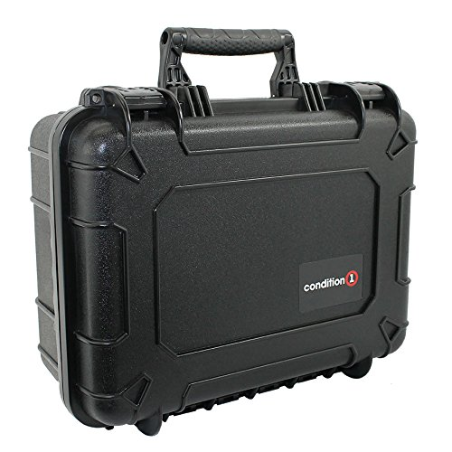 14' Medium Black Protective Hard Travel Carrying Case #075 by Condition 1 - Waterproof/Airtight Case with DIY Customizable Foam