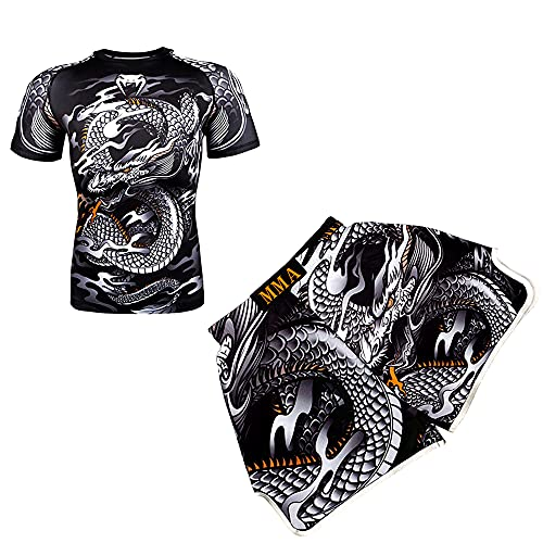 LGQ Herren 2er-Pack Sportbekleidung MMA...