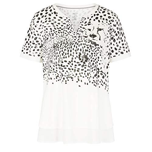 Marc Cain T-Shirt, weiß(whiteandblack), Gr. 40