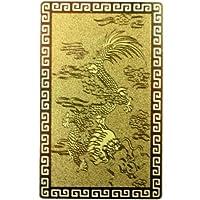 [ ハッピーボム ] 幸運 出世運 全体運 護符 龍 黄金大開運カード