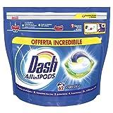 Dash Pods Allin1 Detersivo Lavatrice in Capsule Regolare, Maxi Formato da 62 Lavaggi