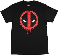 تي شيرت رجالي من Marvel Deadpool مطبوع عليه شعار وجه البانتر لرياضة الببول والكبار