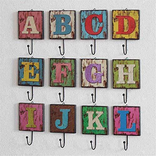 8bayfa, wandkapstok van natuurlijk hout, wandhaken, wandhaken, wandhaken, wandhaken, wandhaken, wandhaken (kleur: I, formaat: Libero)
