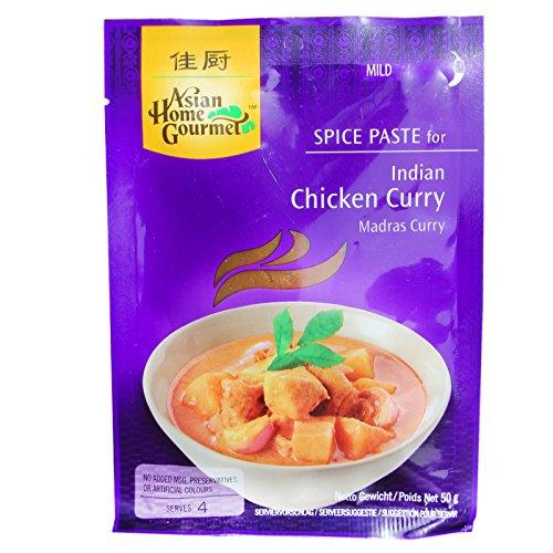 Concentrado en pasta para cocina curry estilo Madrás - 50 g para 4 raciones