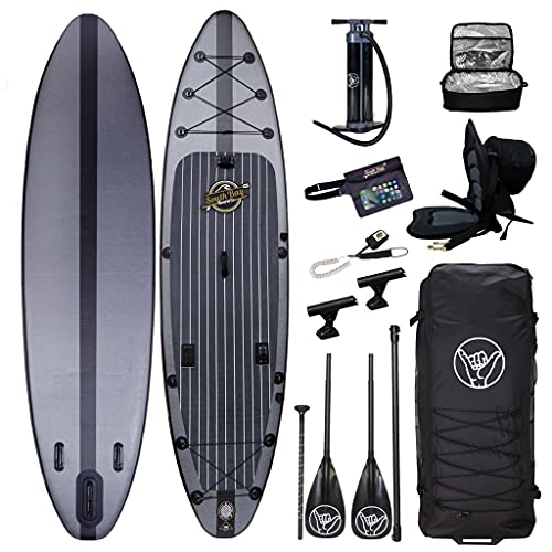 South Bay Board Co. - 11'6 Hippocamp Inflatable Stand Up Paddle Board - Premium ISUP All-in-One Package Includes All The Extras - Military Grade PVC Frame, Heat Bonded Rails - Carbon Fiber Option