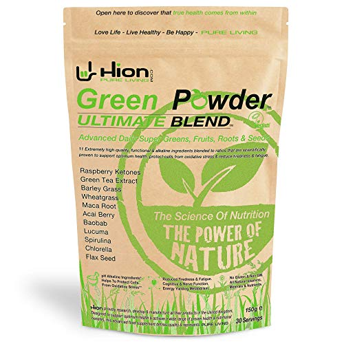 Hion Green Powder – ULTIMATE BLEND - Boost your immune system and give your body the nutrients that it needs! | The ORIGINAL industry-leading Vegan, alkaline & gluten-free Supergreens powder with proven REAL results!