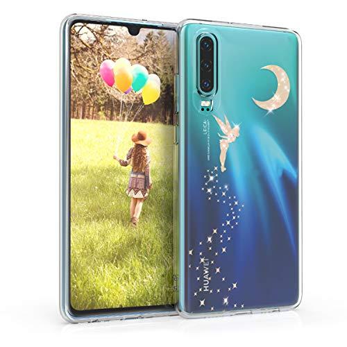 kwmobile Carcasa Compatible con Huawei P30 - Funda de TPU Hada Brillante en Oro...