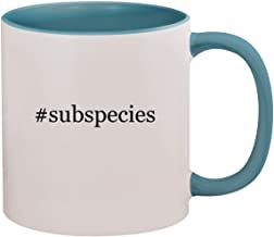 #subspecies - 11oz Hashtag Ceramic Colored Inside & Handle Coffee Mug, Light Blue
