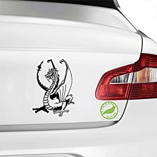 Stickerslug Gold Hoarder Tribal Middle Ages Folklore Dragon Lord Gloss Vinyl Decal Sticker for Cars, Trucks, Vans, Windows, Crafts e14084 (Black, 5 inch)