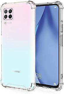 All Do Funda para Huawei P40 Lite, [Refuerzo de Cuatro Esquinas] Estuche de Silicona TPU Ultradelgado Transparente Absorci...