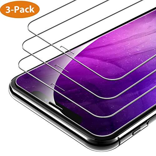 Syncwire Panzerglas für iPhone X/XS/11 Pro, 3 Stück Anti-Bläschen Panzerglasfolie 9H Härte Displayschutzfolie Schutzfolie, Hülle Freundllich