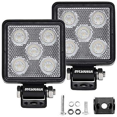 SYLVANIA - Slim 3 Inch Cube LED Light Pod - Lifetime Limited Warranty - Flood Light 950 Raw Lumens, Off Road Driving Work Light, Truck, Car, Boat, ATV, UTV, SUV, 4x4 (2 PC)