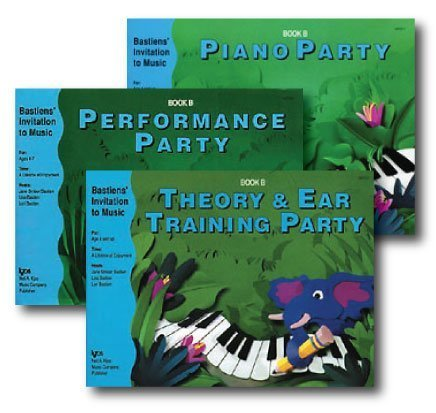Bastiens' Invitation to Music - 3 Book Set - Includes Piano Party Book B, Performance Party Book B, and Theory & Ear Training Party Book B by Bastiens' Invitation to Music