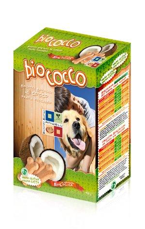 Aniwell - Biscotti per Cani Biologici al Cocco Senza Zucchero, 1 Astuccio da 400g