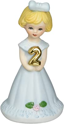 "Enesco Growing Up Girls ""Blonde Age 2"" Porcelain Figurine, 3"""