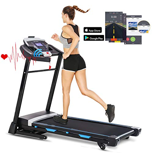 Find Bargain FUNMILY 3.25HP Automatic Incline Treadmill, Folding Treadmill with Bluetooth Speaker, W...
