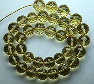 Jewel Beads Natural Beautiful jewellery 4 Inch Strand,Honey Quartz, Full Strand Micro Faceted Round BALLS Beads,6mm SizeCode:- JBB-30564
