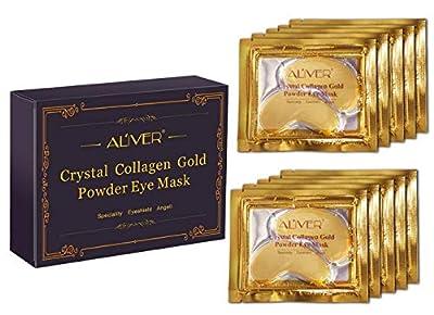 New Crystal 24K Gold Powder Gel Collagen Eye Mask Gold Eye Mask10 pairs by Aliver