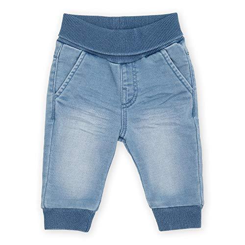 Sigikid Baby-Mädchen Sweat Denim Klecks, Größe 062-098 Jeans, Hellblau, 86