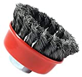 Forney 72757 Wire Cup Brush, Knotted with...