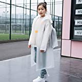 jlfhyg Superior Quality 1pc Kids Boys/Girls PVC Hooded Long Section Raincoat Children Safety Raincoat -