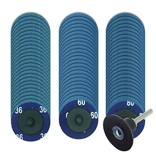 75 PCS Quick Change Discs, Tinpec Zirconia Sanding Discs with 1/4