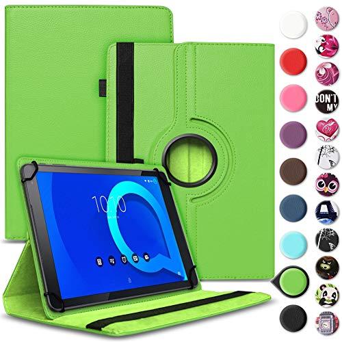 Tablet Hülle kompatibel für Alcatel 1T 10 Tasche Schutzhülle Case Schutz Cover 360° Drehbar 10.1 Zoll Etui, Farbe:Grün