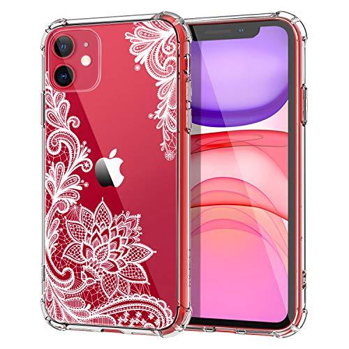 MoKo Kompatibel für iPhone 11 Hülle, Kristall Transparent Durchsichtig Ultra Slim TPU Handy Schutzhülle Schale Silikon Handyhülle Case für Apple iPhone 11 6.1 Zoll 2019 - Kristallspitze