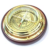 "Aysha Nautical Antique Brass Magnifying/Navigational/Magnetic 6"" Sailing Ship/Boat Desk Compass"