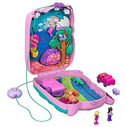 Polly Pocket Bolso y Cofre 2 en 1 con Forma de Koala, con muñecas, Mascotas y Accesorios, Juguete +4 años (Mattel GXC95)