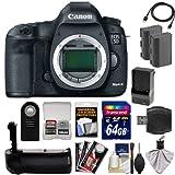 Canon EOS 5D Mark III Digital SLR Camera Body with 64GB Card + 2...