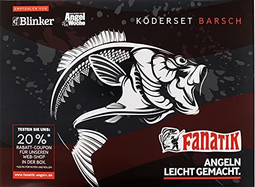 FANATIK Köderset BARSCH Köder Blei Haken Fluoro Empfohlen von Blinker 79 St.