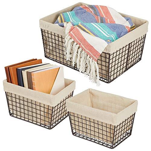 cesta tela almacenaje fabricante mDesign