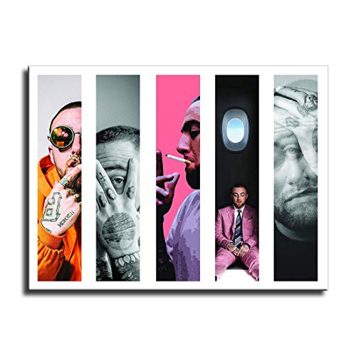 FINDEMO Canvas Wall Art for Home Decor Painting The Picture Print on Canvas Hip Hop Most Dope Music Mac-Miller's Poster (16x20inch,unframed)
